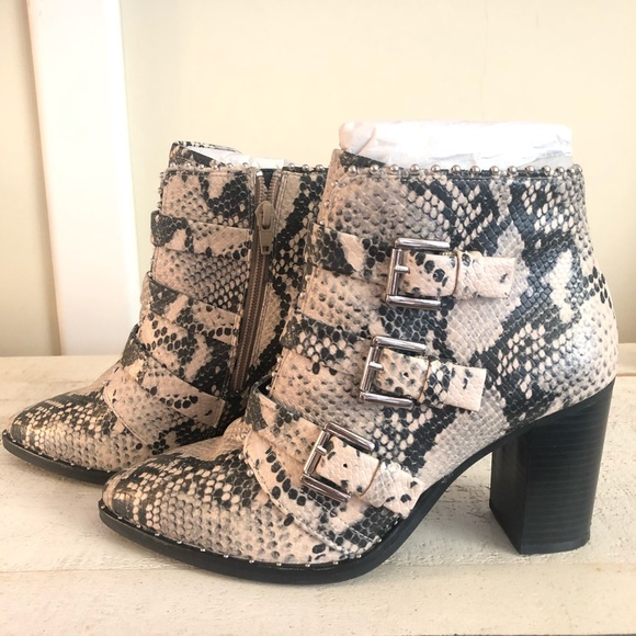 a69bf9c19c2 Steve Madden Humble Natural Snake Bootie